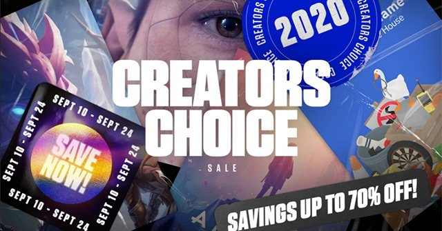 Please download a series of discount games at Creator Choice Sale 2020 of Epic Games